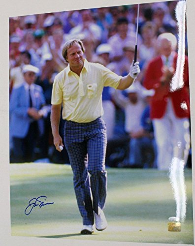 Jack Nicklaus Autographed Picture - 16X20 1986 Masters - Steiner Sports Certified - Autographed Golf Photos