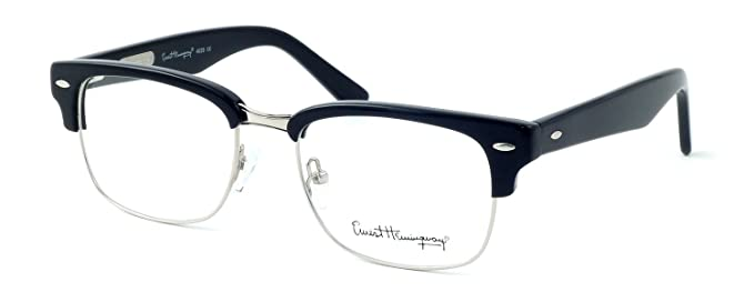 9f0e189fcb Ernest Hemingway 4629 Designer Reading Glasses in Gloss Black   Silver +0.25