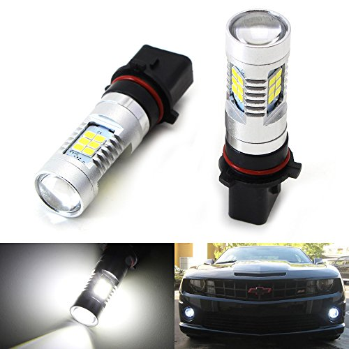 iJDMTOY 21-SMD-2835 P13W Replacement Bulbs For LED Fog Lights or Daytime Running Lights, Xenon White