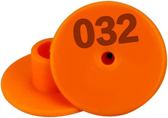 Plastic Universal Livestock Ear Tag Tool for Goat Sheep Pig Identification Ear Tag Pack Of 100 orange
