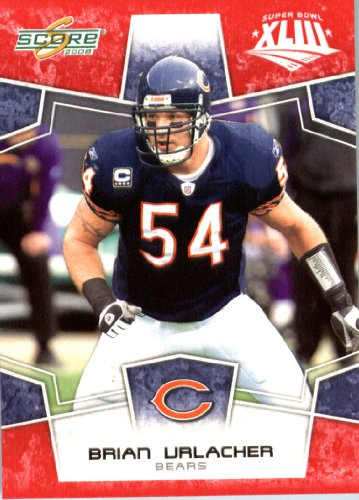 - 2008 Score SuperBowl Red Parallel Edition Football Card #55 Brian Urlacher