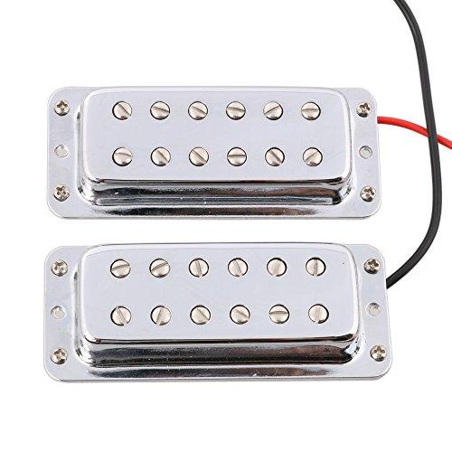 - LYWS Mini Humbucker Double Coil Guitar Pickup Neck Bridge for LP Les Paul Guitar Chrome