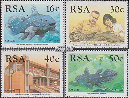South Africa 766-769 (Complete.Issue.) 1989 Comoros-Quastenflosser (Stamps for Collectors) Water Animals