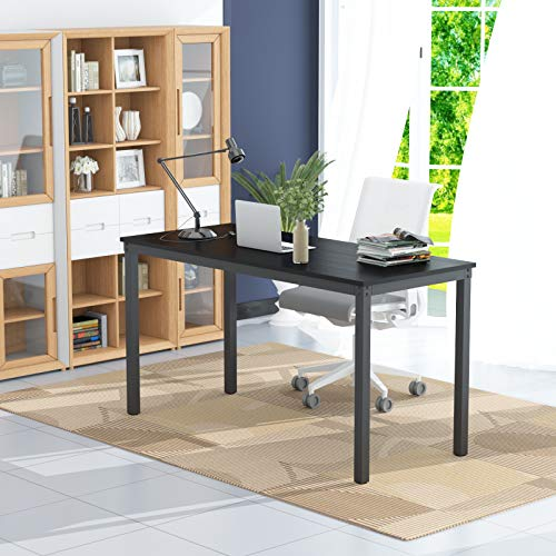 "Teraves Computer Desk/Dining Table Office Desk Sturdy Writing Workstation for Home Office (55.11"", Black)"