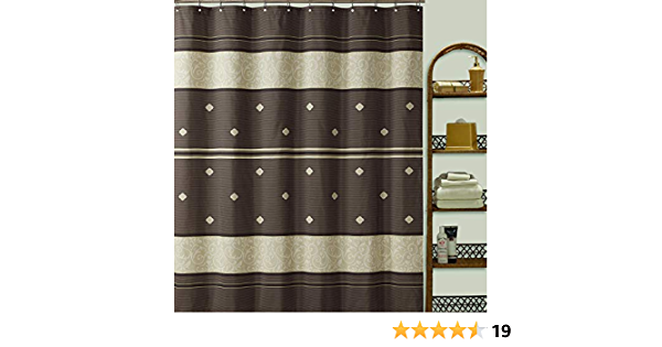 SDLIVING Seville Polyester Microfiber Bronze Shower Curtain,Printed Chocolate Shower Curtains for Bathroom,Decorative Waterproof Brown Bathroom Curtains,72 inches W x 72 inches H