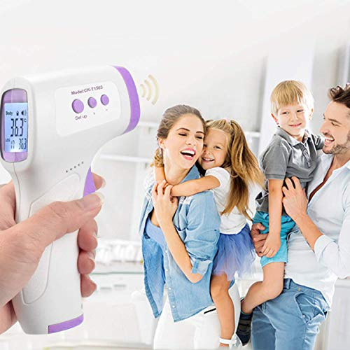 Infrared Gun, Digital Forehead Adults Thermomete.r, Non-Contact Infrared Thermograph, Temperature Gauge, No Touch Accurate Instant Readings Kids Baby.