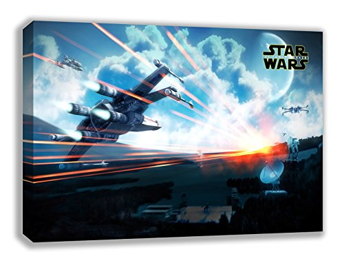 Star Wars VII X Wing der Force weckt Leinwand Wand Art, 44X26