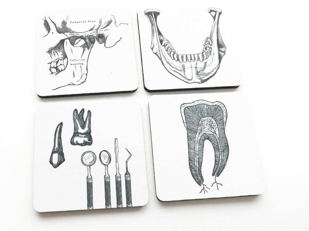 Dentist Gift Drink Coasters Set Of 4 Or 6 Office Graduation Oral Surgeon Dental Hygienist Handmade