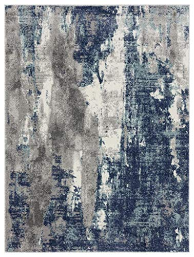 Luxe Weavers Euston Blue 6 x 9 Abstract Modern Area Rug 7681…