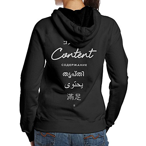 Nice Liza Adult Women Content Coexists Koshy Pullover Tops Blouse Hoodies S
