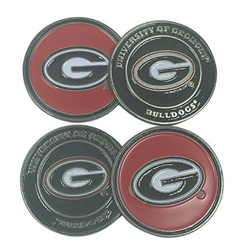 - Alumni Golf (Team Golf) University of Georgia Bulldogs Four (4) Golf Ball Markers - 2 sided (Logo on both sides)