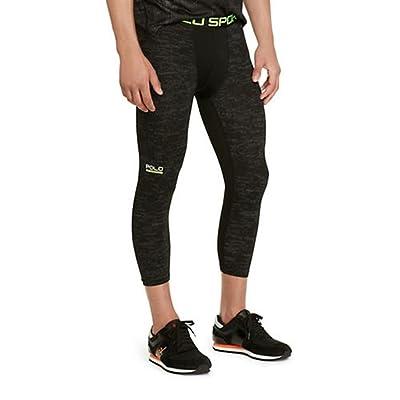 24bcd30473 Polo Sport Ralph Lauren Men's Printed All-Sport Compression Pants, PB  Aurora Black
