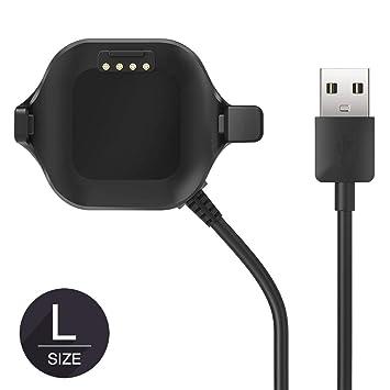TUSITA [Tamaño Grande] Cargador para Garmin Forerunner 25 GPS Reloj - Cable de Carga USB Clip 100cm - Accesorios de Fitness Tracker