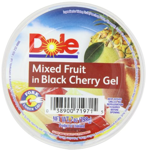 Dole Mixed Fruit In Black Cherry Gel, 7-Ounce Cups (Pack of 12) Black 7 Ounce Cup