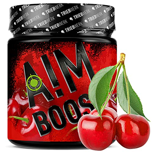 AIM BOOST® | Performance Booster voor gaming | 400 g | 40 porties | 23 werkzame stoffen | 247 mg cafeïne + tyrosine…