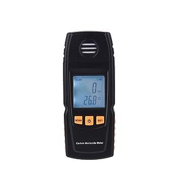 Detector ,Analizador Portátil Del Detector De Gas Del Co De La Alta Precisión Del Metro Del Monóxido De Carbono De La Mano -Negro: Amazon.es: Bricolaje y ...