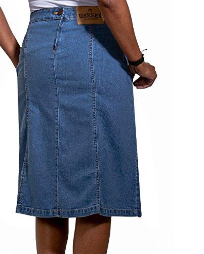Uskees Lavato MOLLYPW di midi Gonna moda Gonna jeans chiaro alla MOLLY PBTnrqxP
