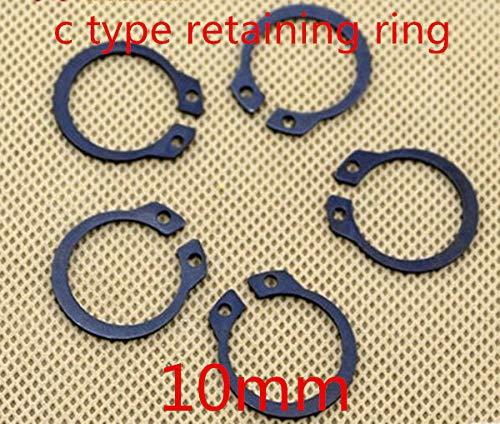 Ochoos 100pcs//lot m10 10mm C Type snap Ring,C Type retaining Clip Ring Washer Alloy Steel