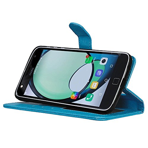 Qiaogle Teléfono Case - Funda de PU Cuero Billetera Clamshell Carcasa Cover para BQ Aquaris E5 / E5s / E5 HD / E5 FHD (5.0 Pulgadas) - DK05 / Marrón Moda Elegante estilo DK01 / Azul Moda Elegante estilo