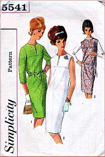 Simplicity 5541 Misses Sheath Dress or Jumper with Front and Back Yoke Vintage Sewing Pattern