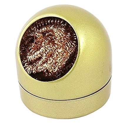 Extremidad del soldador de limpieza en la esponja del alambre de la boquilla del limpiador w Holder - - Amazon.com
