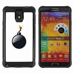 A-type Arte & diseño Anti-Slip Shockproof TPU Fundas Cover Cubre Case para Samsung Galaxy Note 3 III / N9000 / N9005 ( Funny Mario Bomb )