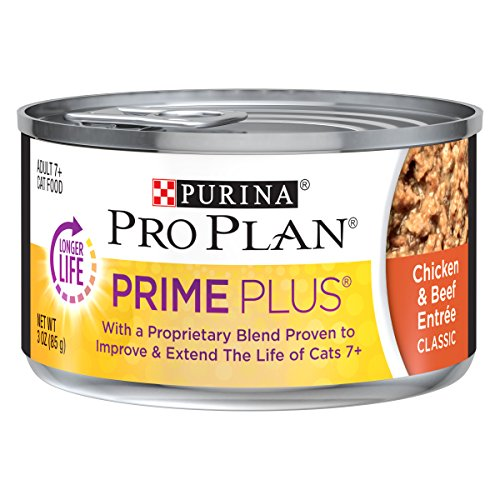 Purina Pro Plan PRIME PLUS Classic Entree Adult 7+ Wet Cat Food - (24) 3 oz. Cans