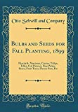 Amazon / Forgotten Books: Bulbs and Seeds for Fall Planting, 1899 Hyacinth, Narcissus, Crocus, Tulips, Lilies, Cut Flowers, Fine Palms, Roses, Fruit Trees, Flower Pots, Etc Classic Reprint (Otto Schwill and Company)