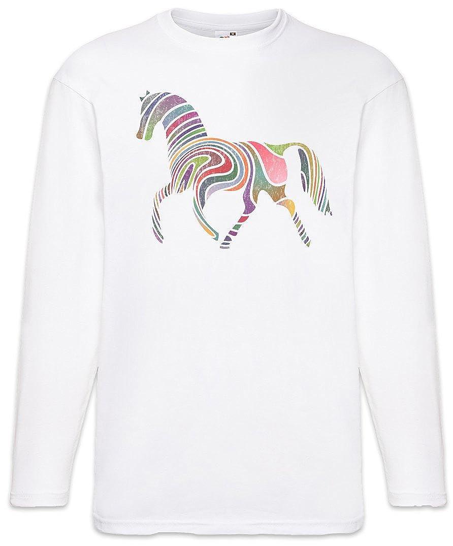 Urban Backwoods Colored Horse I Long Sleeve T Shirt White Amazon