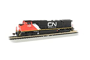 Bachmann Trains 67355 GE Dash 8-40CW Sound Value Equipped Locomotive - Canadian National #2162 - N Scale, Prototypical Colors