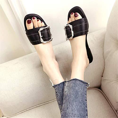 Chaussures Plage Femme Black YUCH pour De UOdqqC