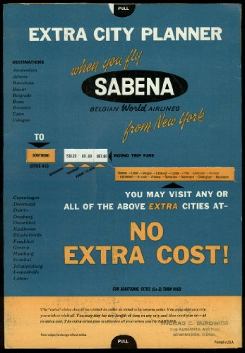Used, Sabena Belgian World Airlines Extra City Planner airline for sale  Delivered anywhere in USA