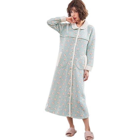 64a76c201ed15 XFentech Femme Chaud Pyjama Robe - Postnatale d allaitement Coton Vêtements  de Nuit  Amazon.fr  Vêtements et accessoires
