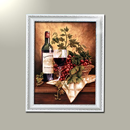 wine and grapes framed art - 9