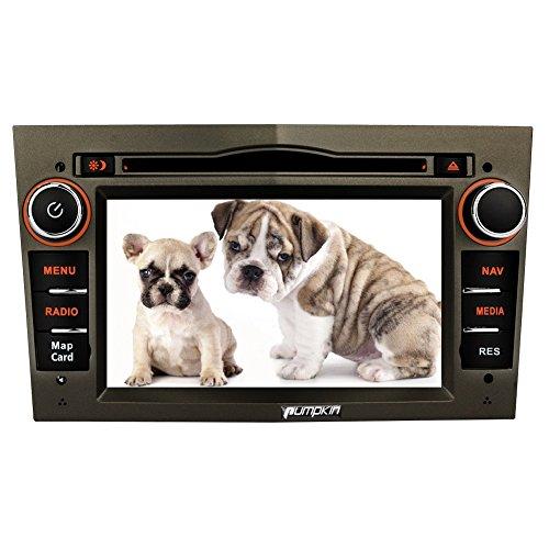 PUMPKIN 6.2 Zoll 2 Din Autoradio Moniceiver DVD Receiver mit Kapazitiven Touchscreen Unterstützt GPS Navi CD USB Bluetooth Lenkradfernbedienung