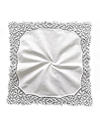 Vine Flower Wedding Embroidery Crotchet Lace Handkerchiefs for Bride and Ladies, B601