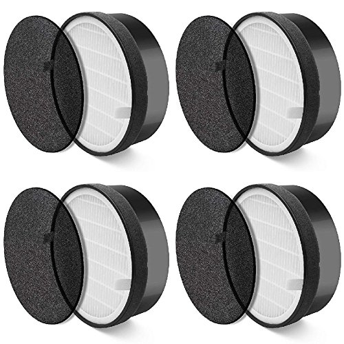 Nispira HEPA Air Filter Replacement Compatible with Levoit Air Purifier LV-H132, Compared to Part LV-H132-RF, 4 Packs