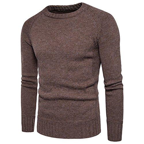 Jdfosvm Winter, männer - t - Shirt, Pulli pflaster lose Pullover  Herren Rollkragen - Pullover,Kaffee,XL