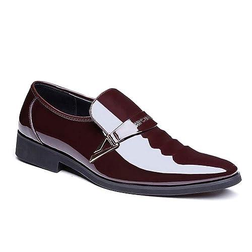 Huatime Negocio Cuero Zapatos Hombre - Moda Slip On ...