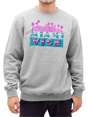 Miami Vice Skyline Sweater Grey Certified Freak