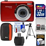 Polaroid iTT28 20MP 20x Zoom Digital Camera (Red) with 32GB Card + Case + Tripod + Kit