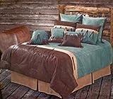 San Juan - Western Turquoise - 5 Piece Super King Comforter Bedding Set - (1 Comforter, 2 Pillow Shams, 1 Bedskirt, 1 Accent Pillow) SAVE BIG ON BUNDLING!