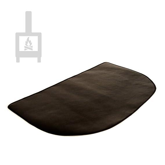 Alfombra ignífuga semicircular protectora de suelo para estufa y chimenea (80x50cm): Amazon.es: Hogar
