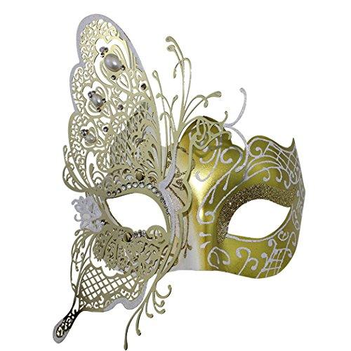[Mysterious Venetian Butterfly Lady Masquerade Halloween Party Mask] (Old Lady And Old Man Halloween Costumes)