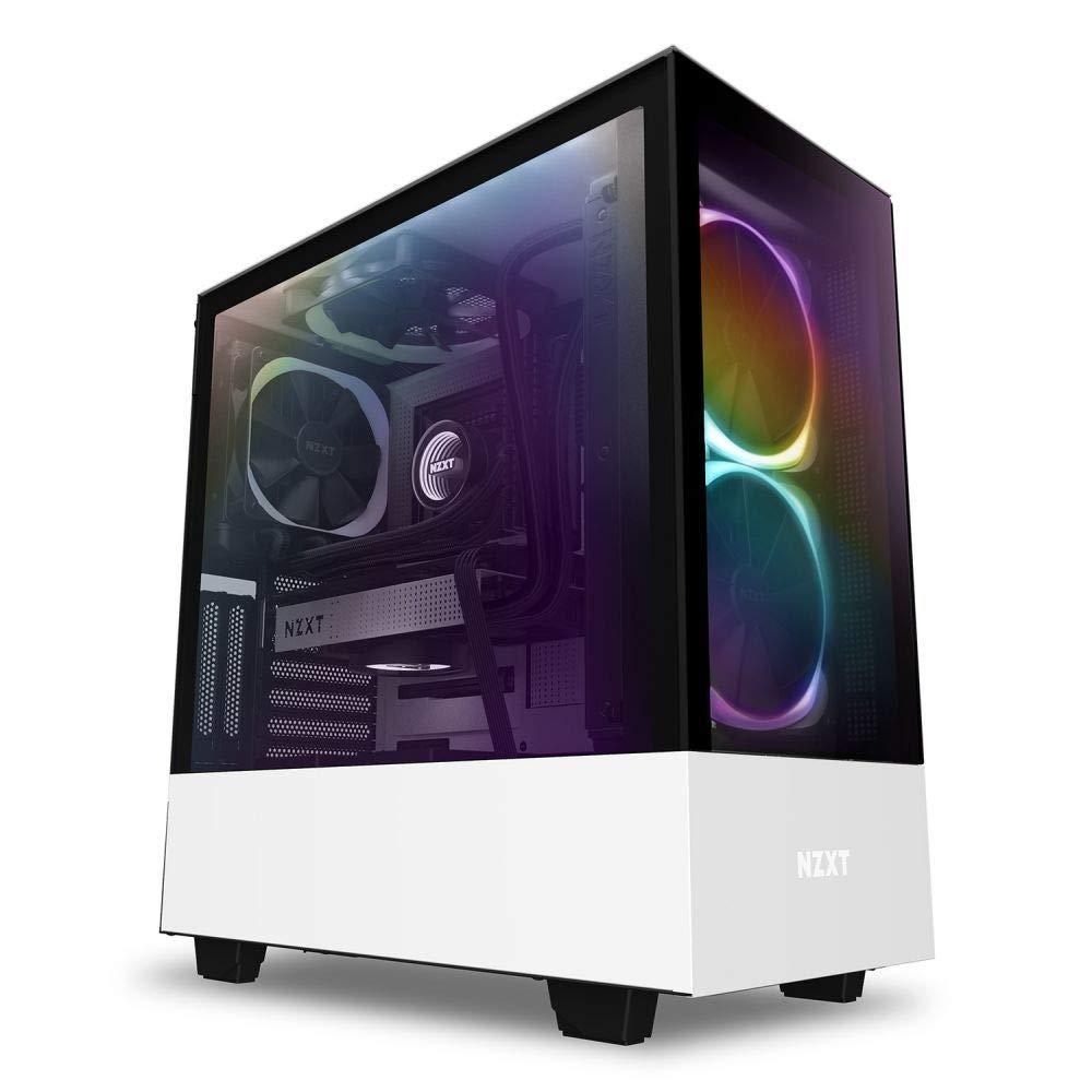 NZXT H510 Elite PC-Gaming-Geh/äuse mit Sichtfenster Wei/ß