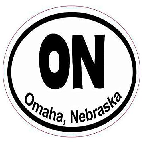 Nebraska Graphic - Ross Stores Oval ON Omaha Nebraska Luggage - Sticker Graphic - Auto, Wall, Laptop, Cell, Truck Sticker for Windows, Cars, Trucks