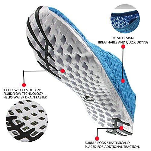 Amoji Unisex Wasser Aqua Schuhe sportliche Turnschuhe Blau