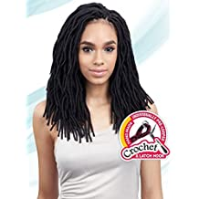 2X SOFT WAVY FAUX LOC 12 (2 Dark Brown) - Freetress Synthetic Crochet Braid Dread Locks by Freetress