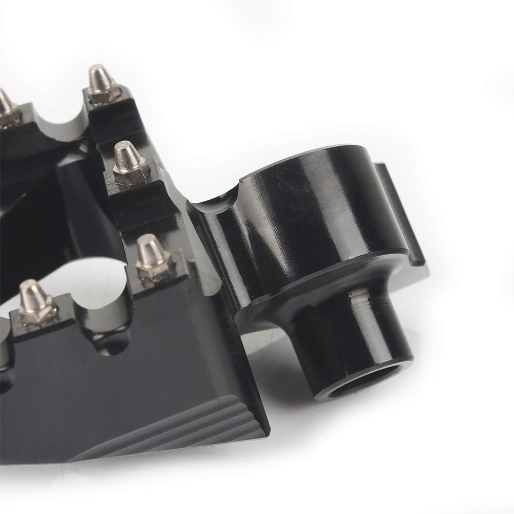 Aluminium Repose Pieds Cale Pieds P/édales pour Yamaha YZ85 YZ125 YZ250 YZ250F YZ450F WR250F WR450F 2001-2016