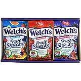 Welchs Fruit Snacks 36 Count 2.25oz (Mixed Fruit, Berries 'N Cherries, Strawberry)